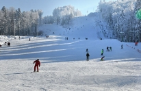 Лыжная трасса зимой